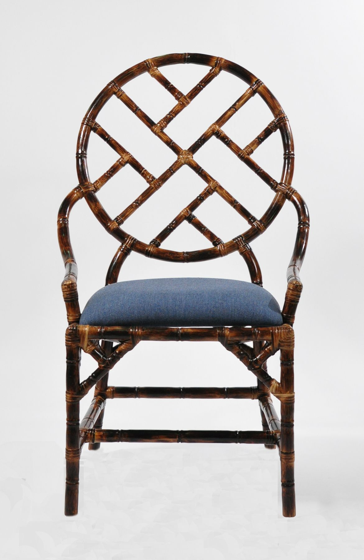Bamboo Dining Chair Bamboo Accent Chair With A Tortoise Shell Finish Love