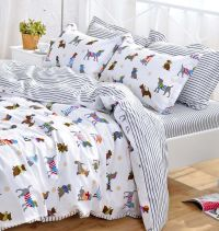 YOYOMALL Cotton Cartoon Dog Bedding Set,Cute Puppy Duvet ...