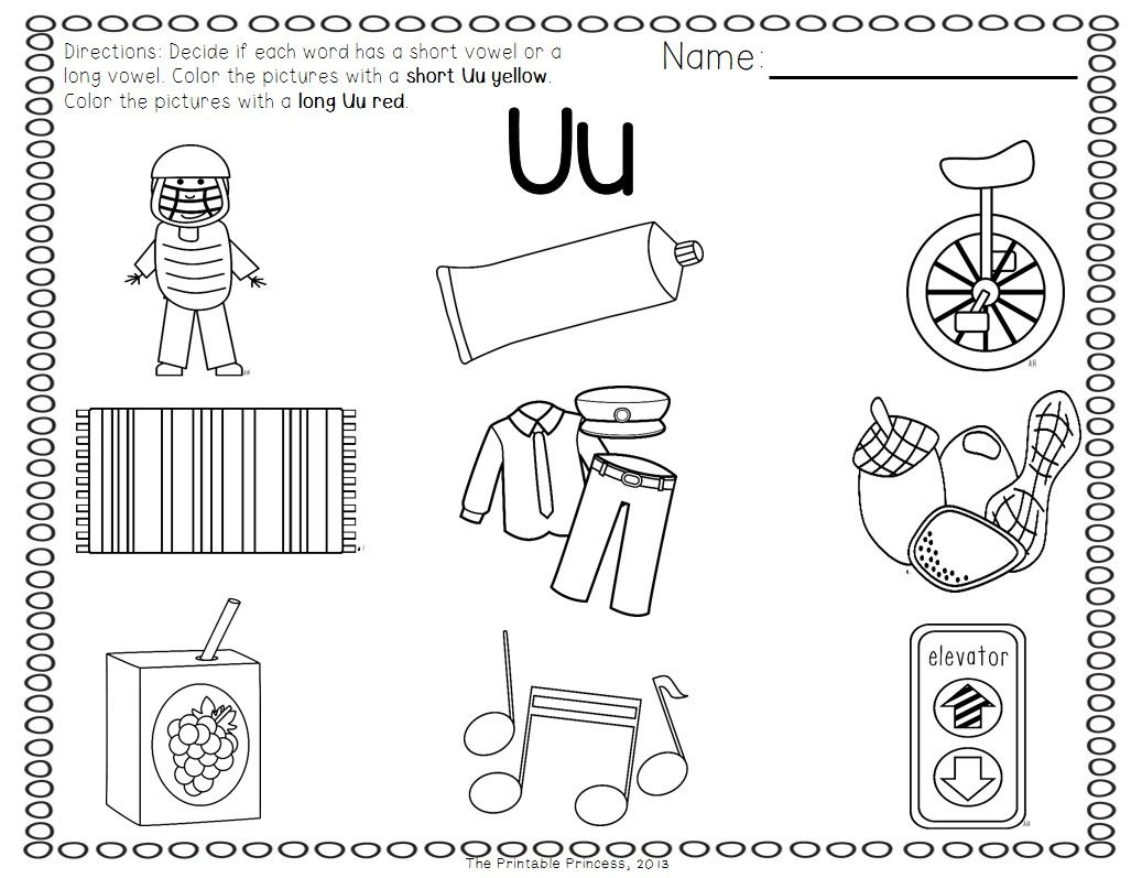 Short Vowel Practice Worksheets Sketch Coloring Page
