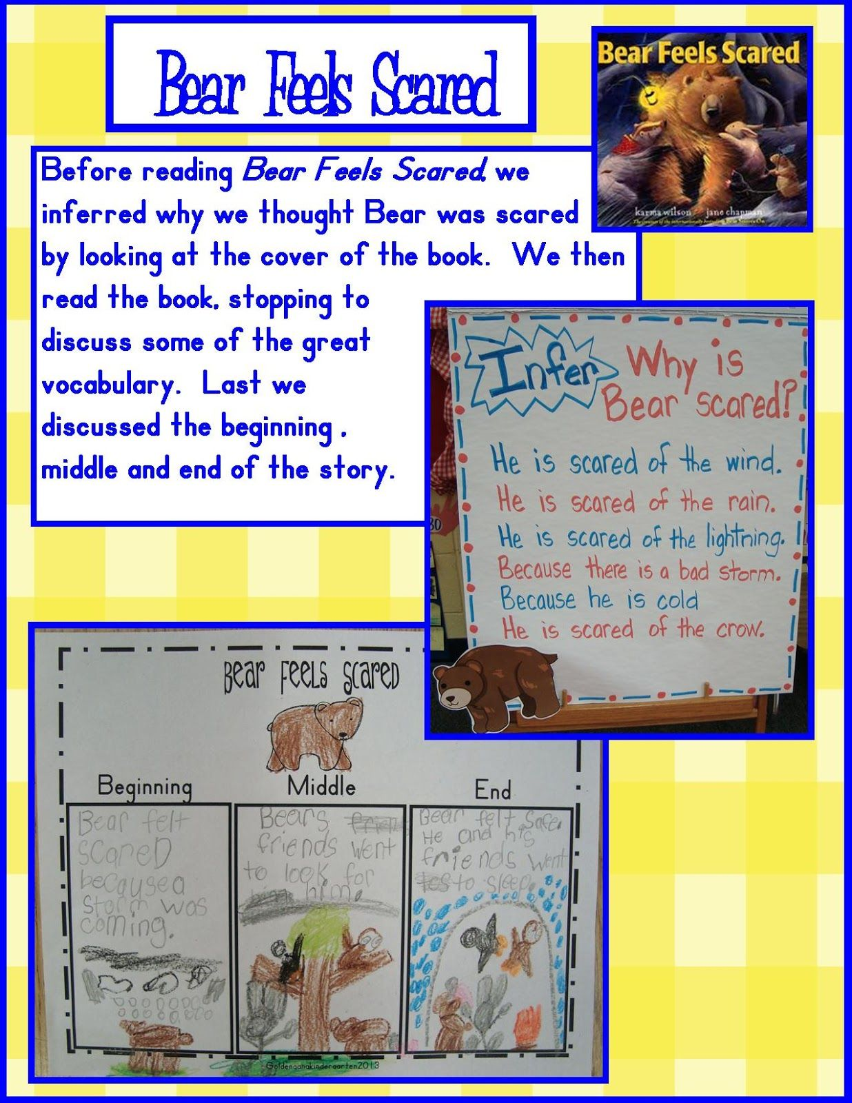 Golden Gang Kindergarten Activities For Book Bear