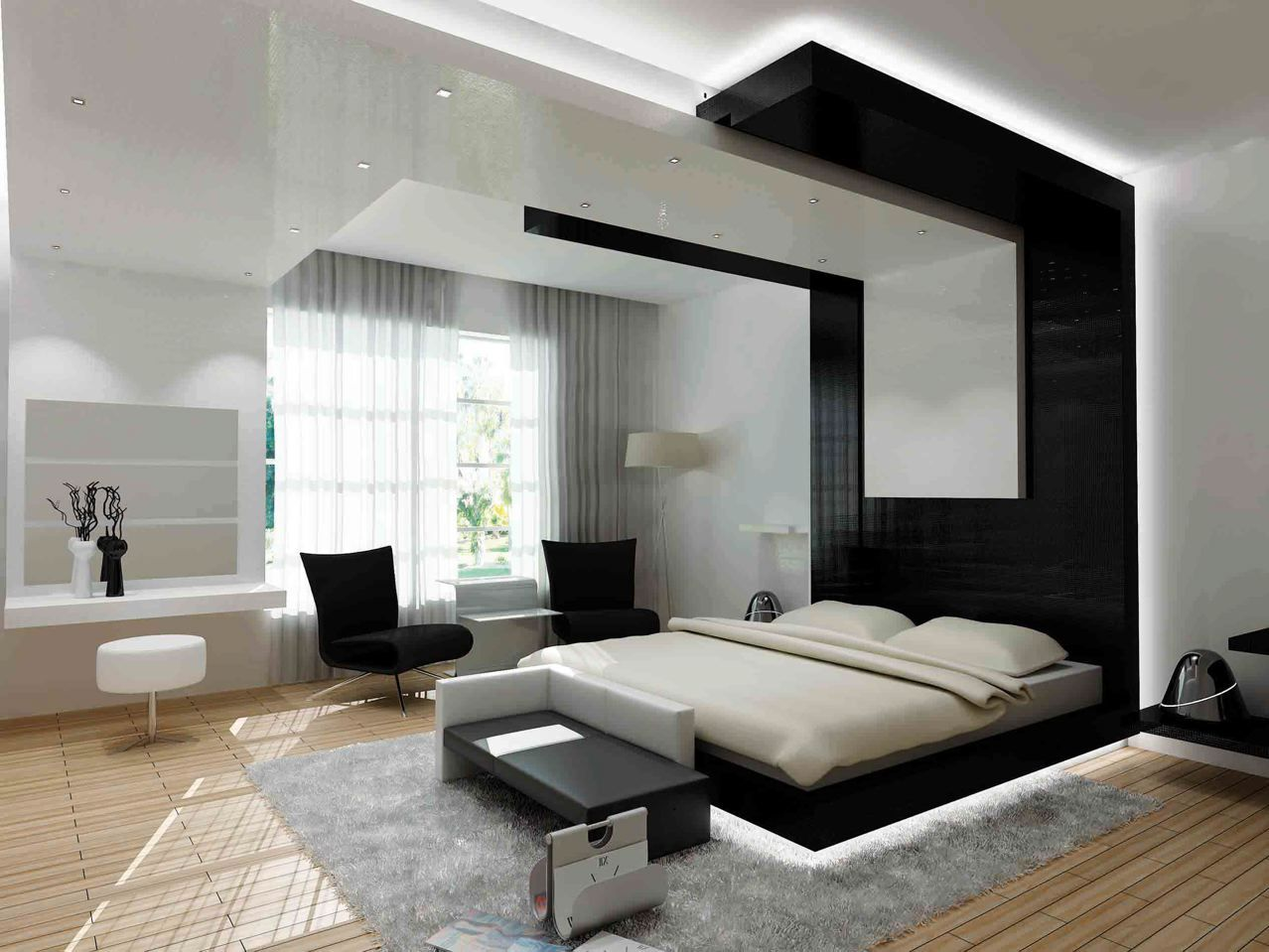 The Elegance of White and Black Bedroom Ideas that You can Apply to Your Bedroom