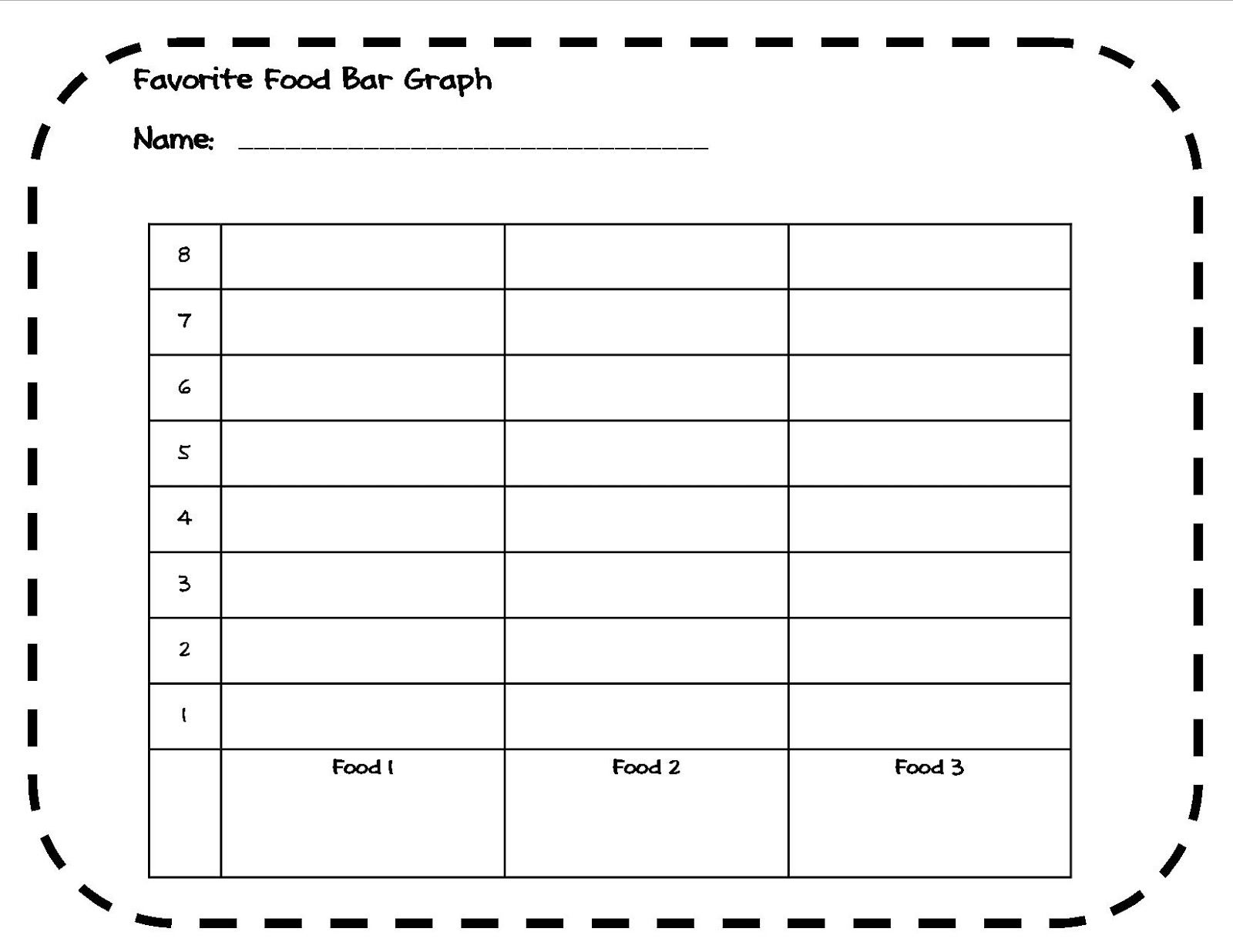 Favorite Food Bar Graph Activity 1st 4th Grade