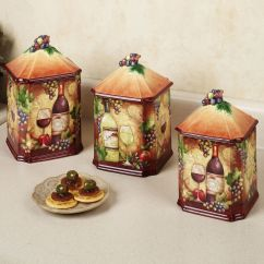 Decorative Kitchen Canisters Sets Lg Appliance Package Tropical 43kitchen 43table 43sets Home Wine Map Canister Set