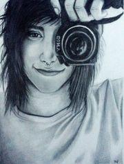 emo boy drawings drawing of