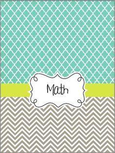 Covers on Pinterest  Teacher Binder Chevron Binder Covers and  Printable Binder Covers
