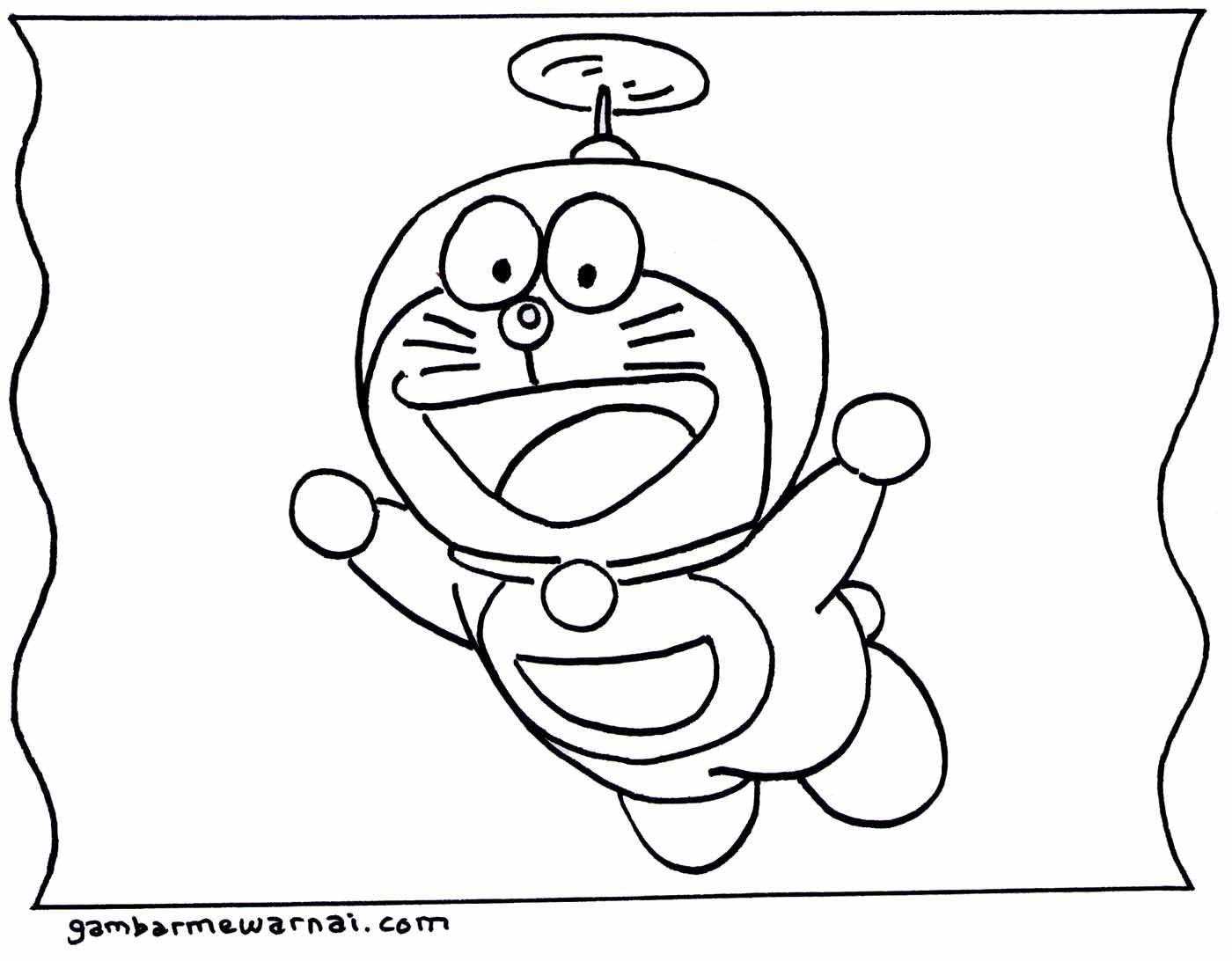 Gambar Mewarnai Doraemon Gambarmewarnai