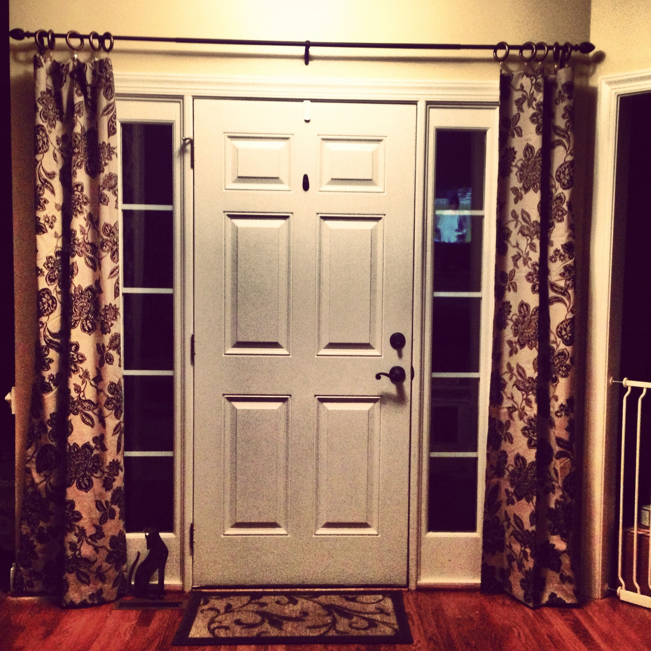 Front door side window coverings - Image Of Sidelight Window Treatments Pinteres