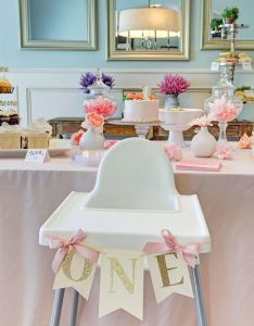cute one year old garden themed birthday party lots of ideas decorate high chair also best images about yara   first bday on pinterest rh