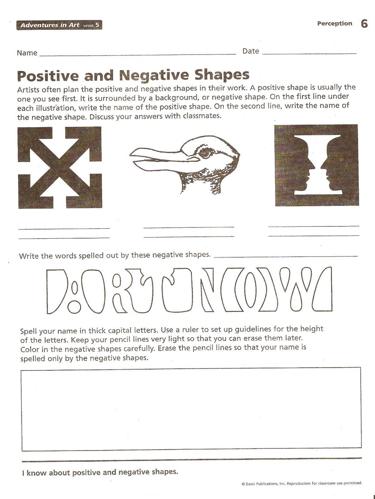 Art Positive And Negative Space