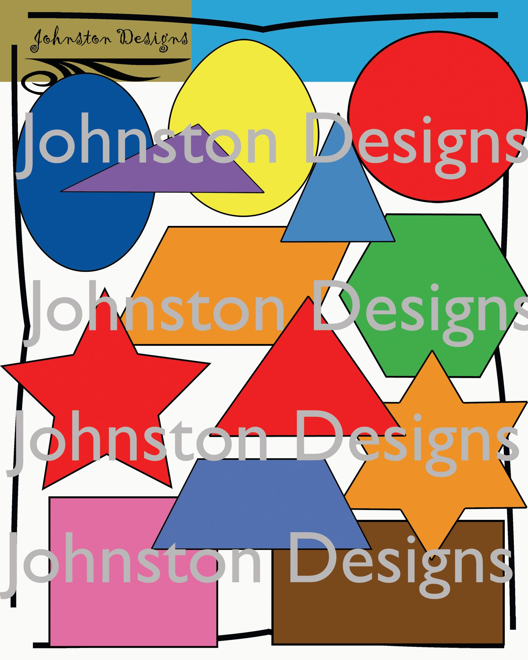 2 Dimensional Shapes Clipart