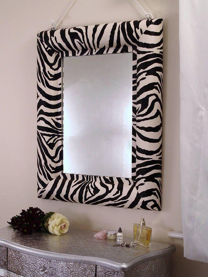 zebra print mirror by xxxxxxxxxxx  notonthehighstreetcom