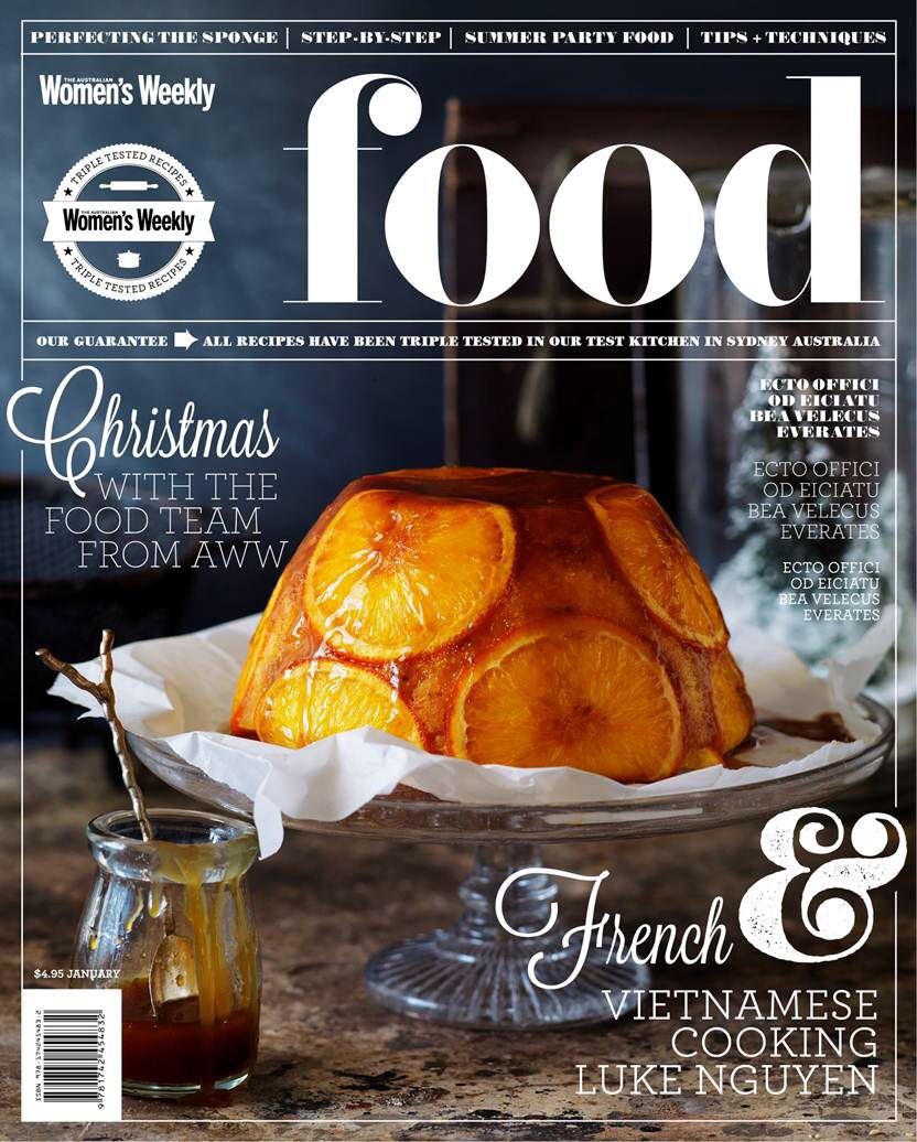 Mockup cover concepts for an Australian Food Magazine