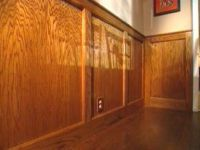 How to Cut, Stain and Install Wainscoting Panels ...