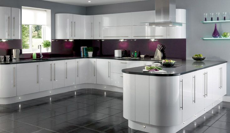 White Cabinets With Contrast