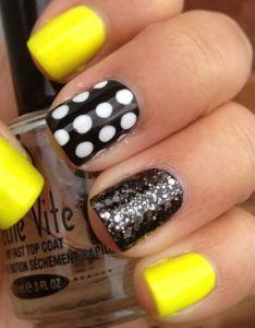 Yellow And Black Design Nails Valoblogi Com