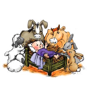 donkey bunnies and sheep
