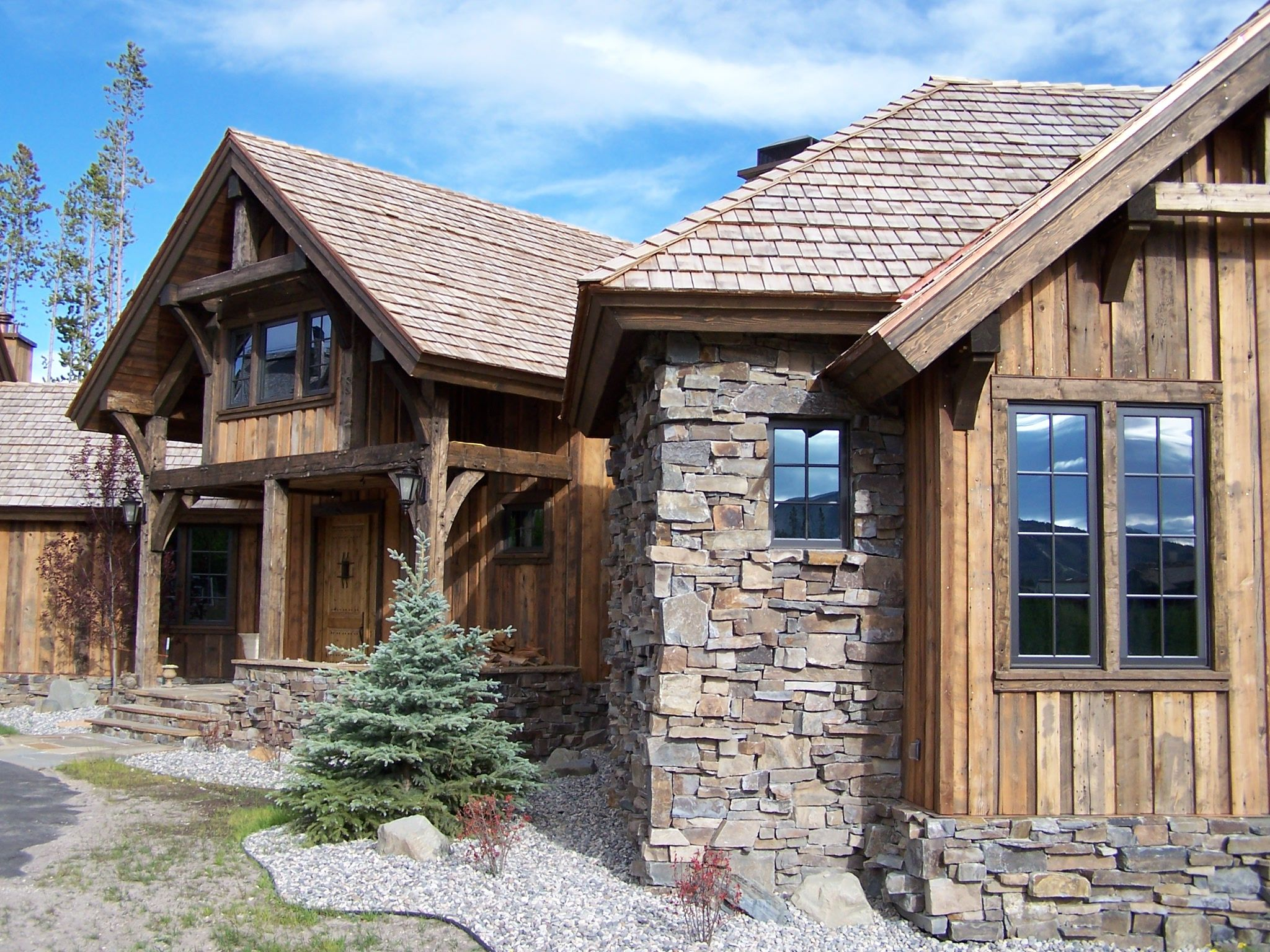 Like The Vertical Siding & Rustic Feel. Bavarian Stone