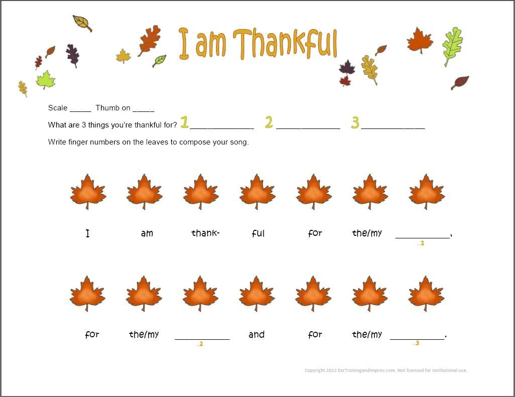 Here S A Fun Thanksgiving Piano Composition Activity For Preschoolers Kids Make Up A Melody And
