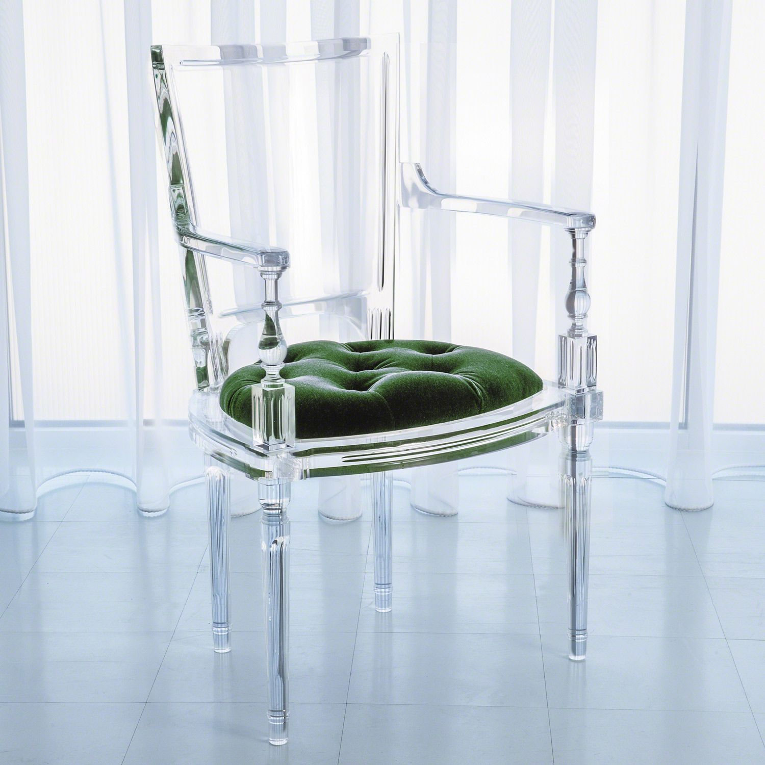 Emerald Green Accent Chair Global Views Marilyn Acrylic Emerald Green Arm Chair Zinc