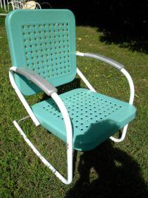 Vtg 50s 60s Retro Outdoor Metal Lawn Patio Porch Rocking