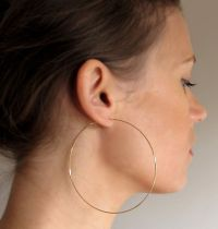 Extra Large Gold Hoop Earrings - 3 inch Thin Gold Hoops ...