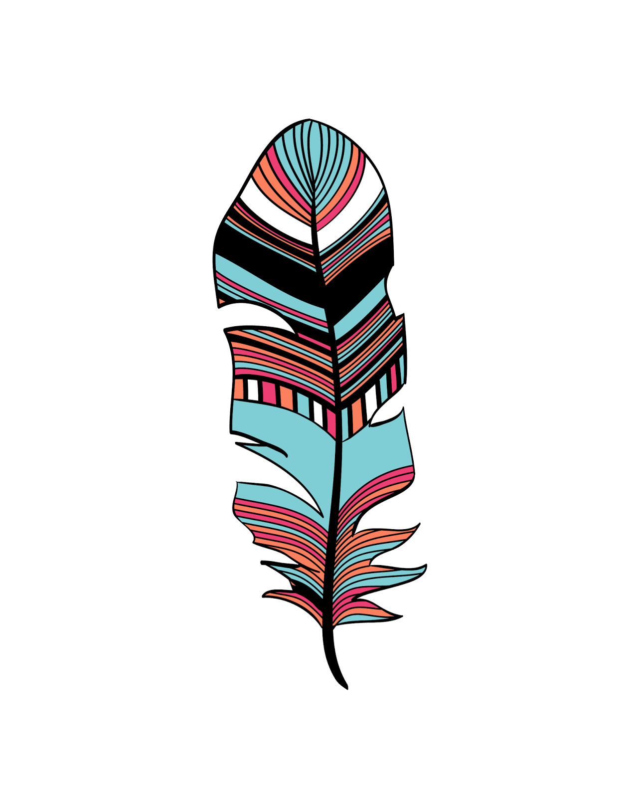 Oh So Lovely Free Printables Abstract Feathers Freeprintable Freeprintables