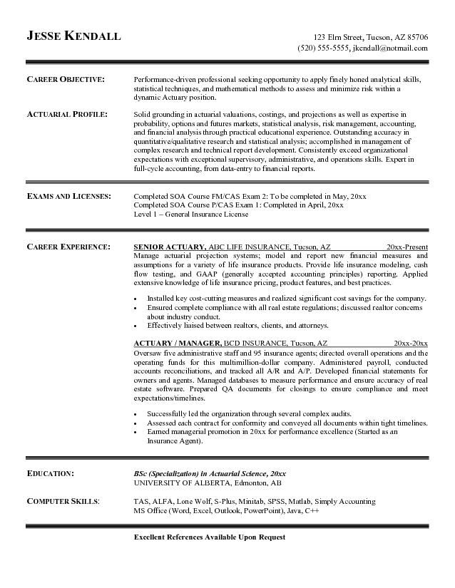 Resume With References Example