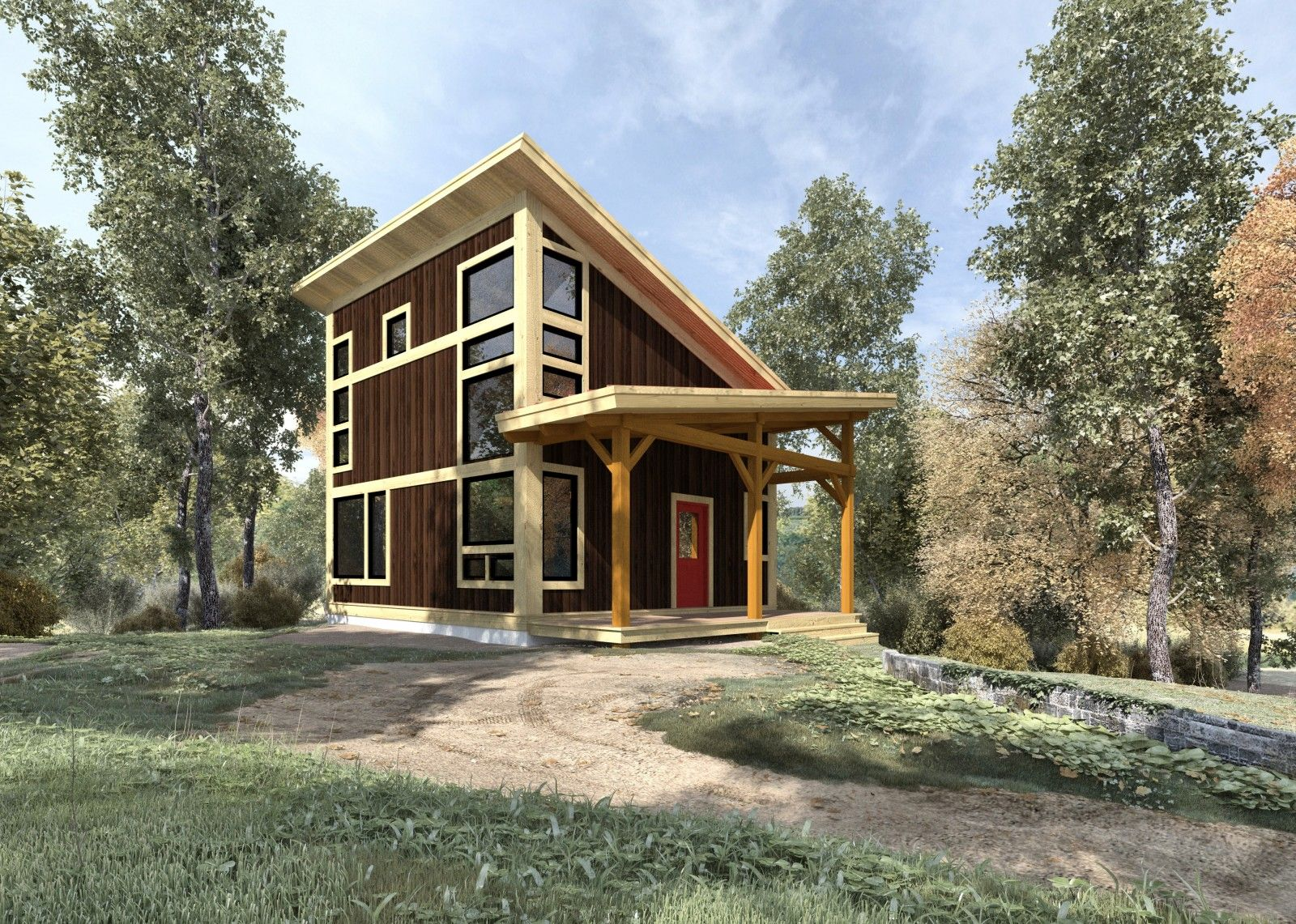 Brookside 844 Sq Ft From The Cabin Series Of Timber Frame Home