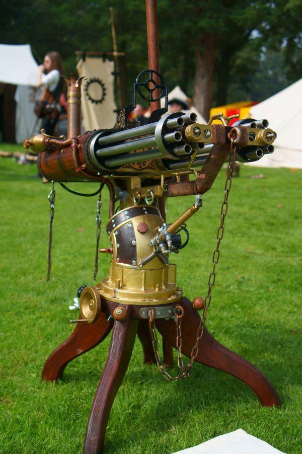 Steampunk Gatling Gun Pinteres
