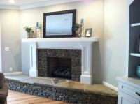 Covering A Brick Fireplace - Creative Home Decoration and ...