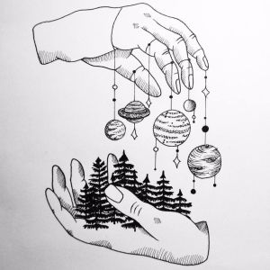planet planets drawing tattoo please hands forest minimalism provocative while drawings draw nature sketches know tattoos solar system natu