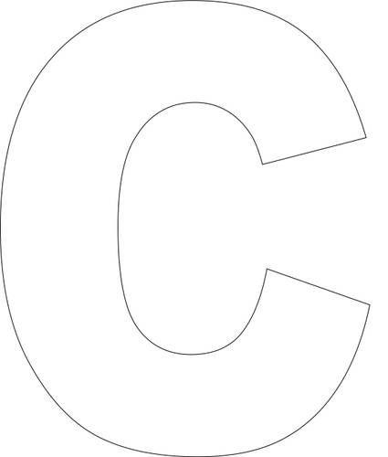 Printable Block Letter C