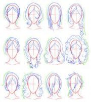 draw realistic hair step