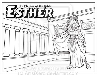 Esther coloring page by ArtistXero.deviantart.com on