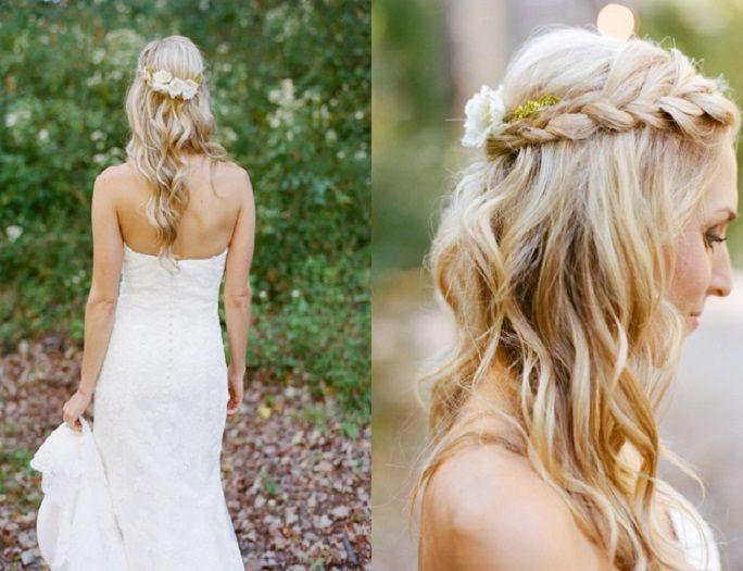 Braided Bridal Hairstyles Slöja Bröllopsfrisyrer Och Bröllop