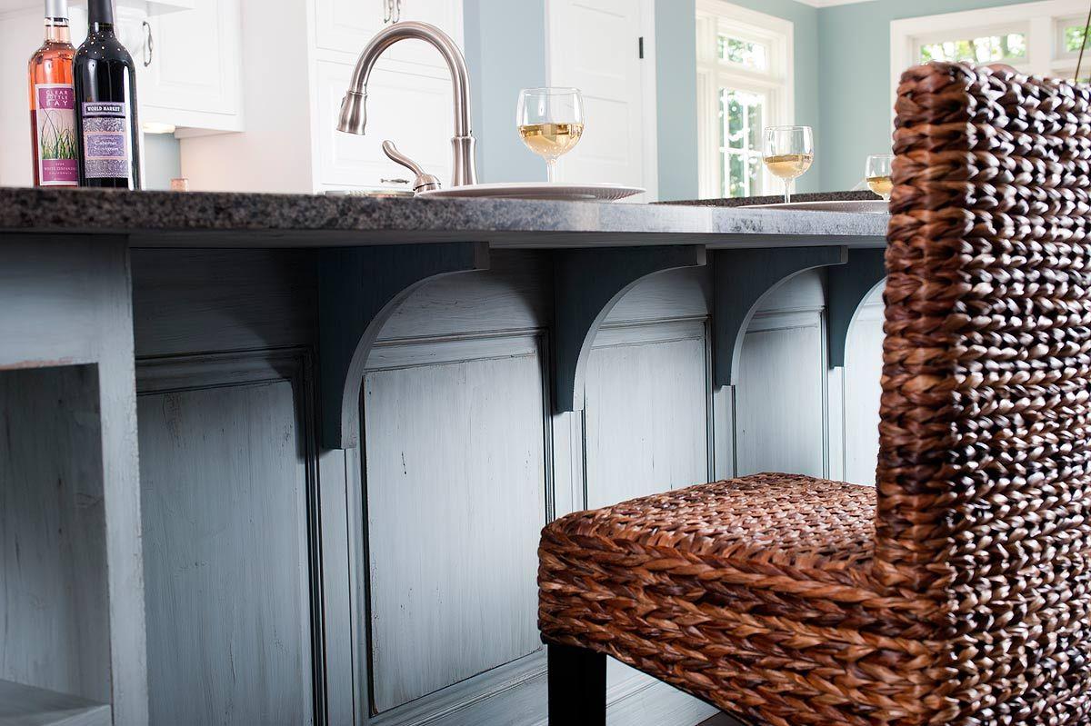 Wood Corbels For Granite Countertops Kitchen Breakfast Bar