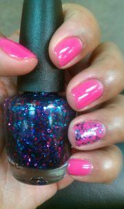gel nails- pretty summer