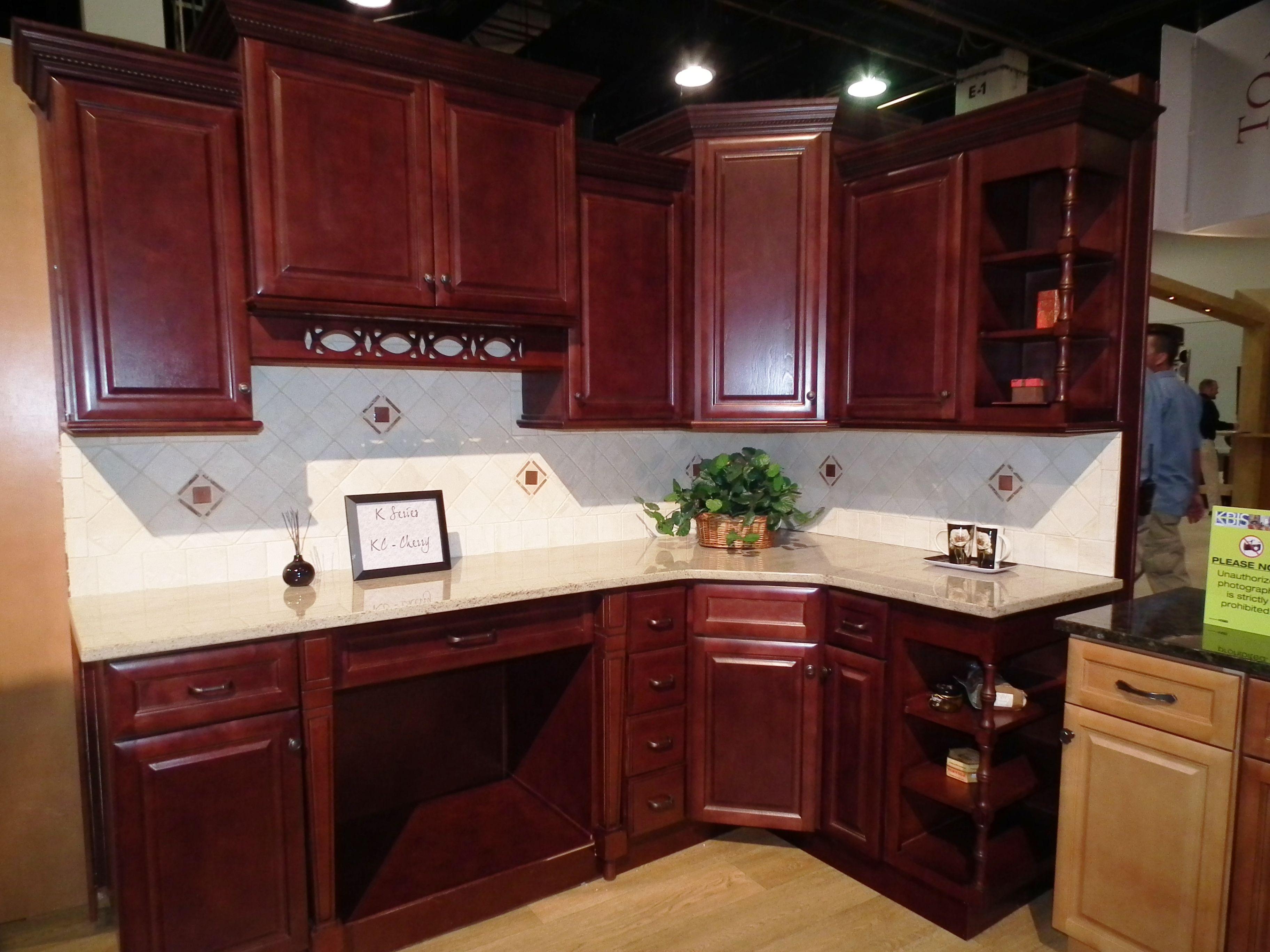 Kitchen Cherry Cabinets  New All Wood Raised Panel Birch