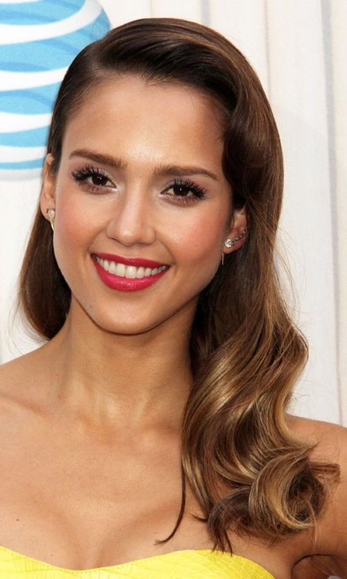 Jessica Alba Mit Hollywood Wellen Frisuren Für Brautjungfern