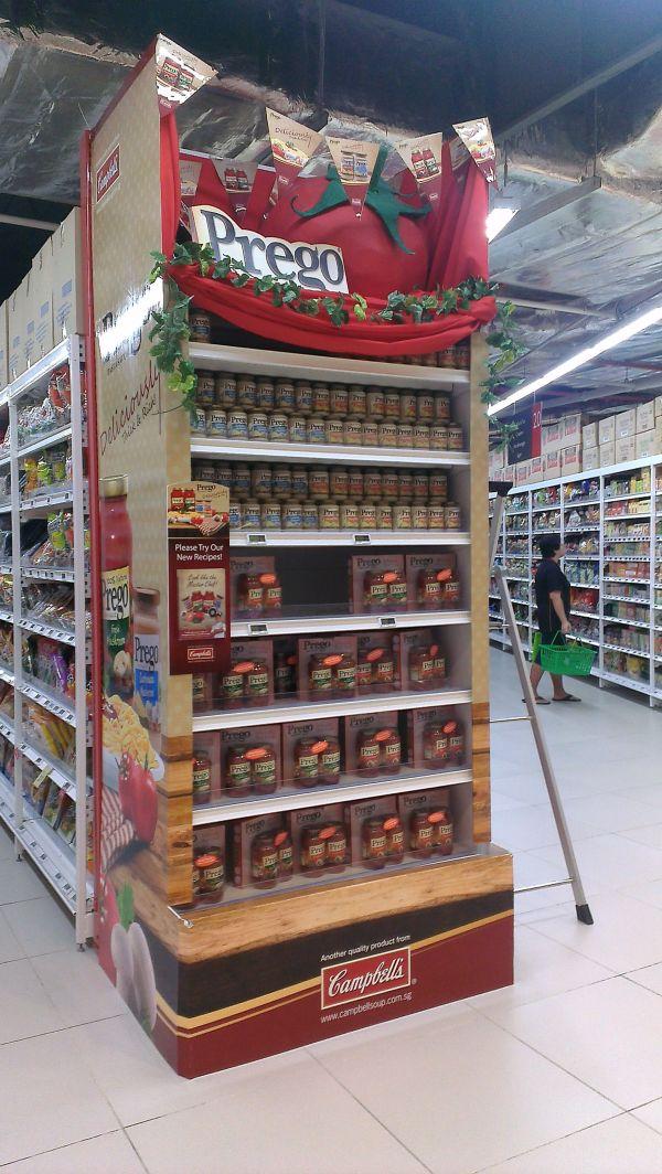Display Grocery Store Gondola Shelves