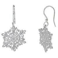 Sterling Silver Snowflake Earrings Baltic Amber And 925 ...
