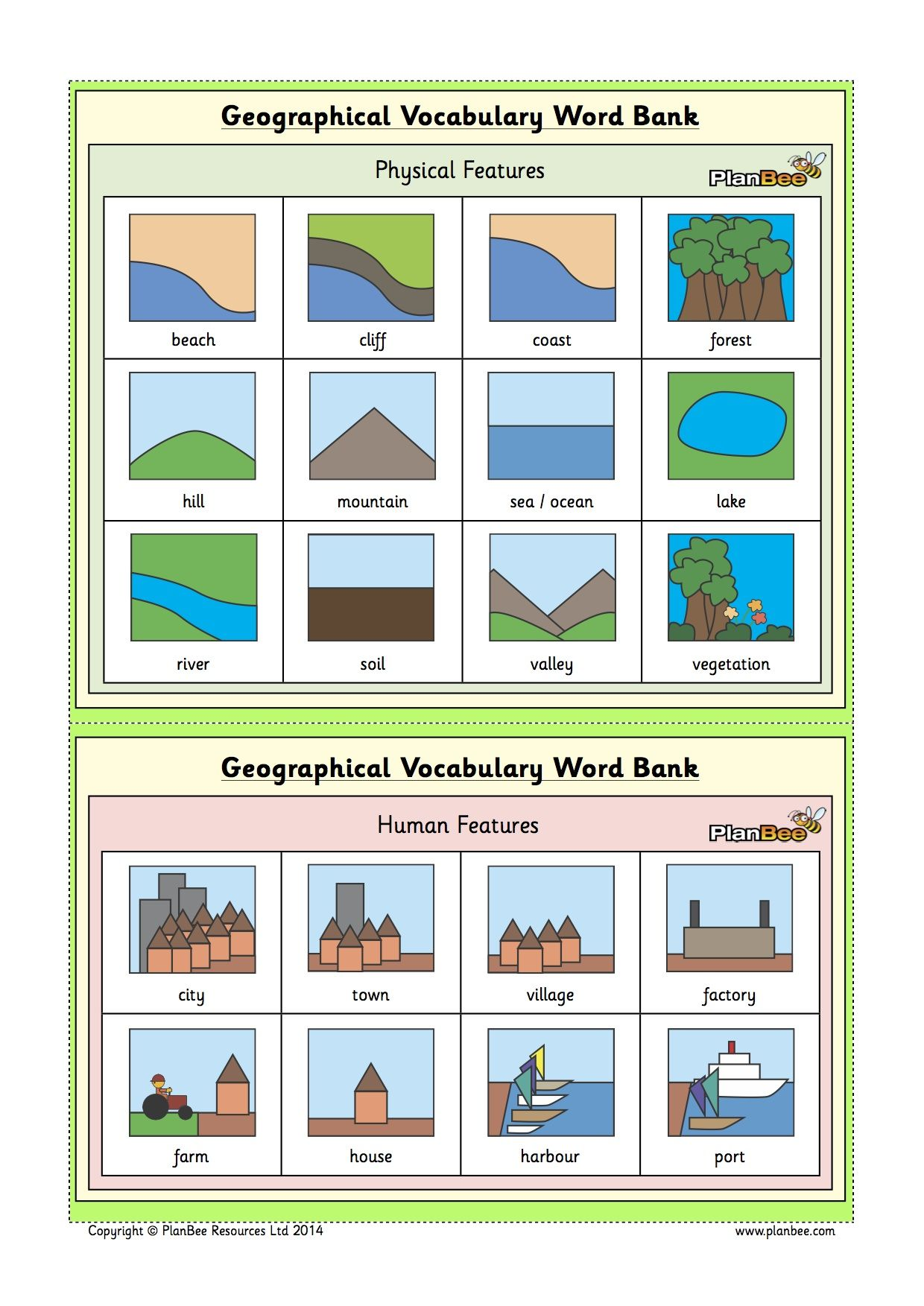 Free Ks1 Geographic Vocabulary Word Bank Available At The Hive S Anbee Free