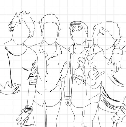 5sos Outline Tumblr Sketch Coloring Page