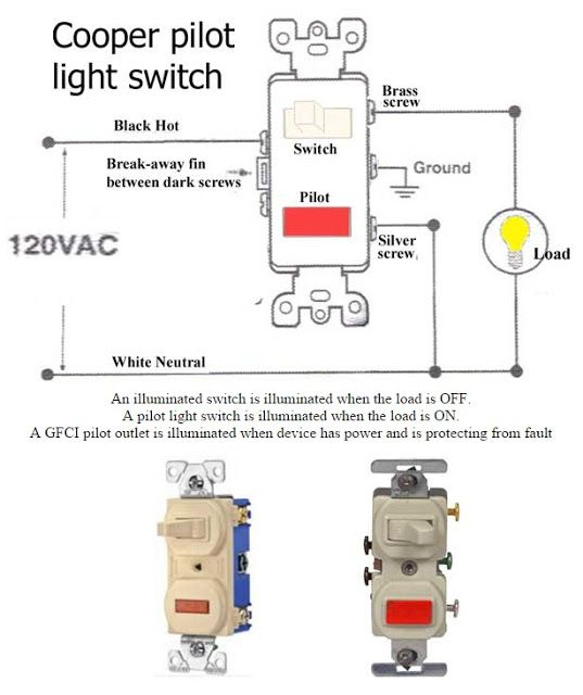 How To Wire Pilot Light Switch Electrical Info PICS Non Stop