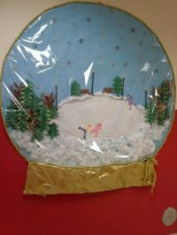 Our classroom paper made snowglobe Door competition:Winter ...