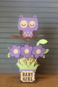 Purple Owl Baby Shower Centerpiece by NoOneLikeYou on Etsy