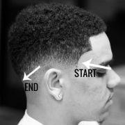 drop fade faded barber