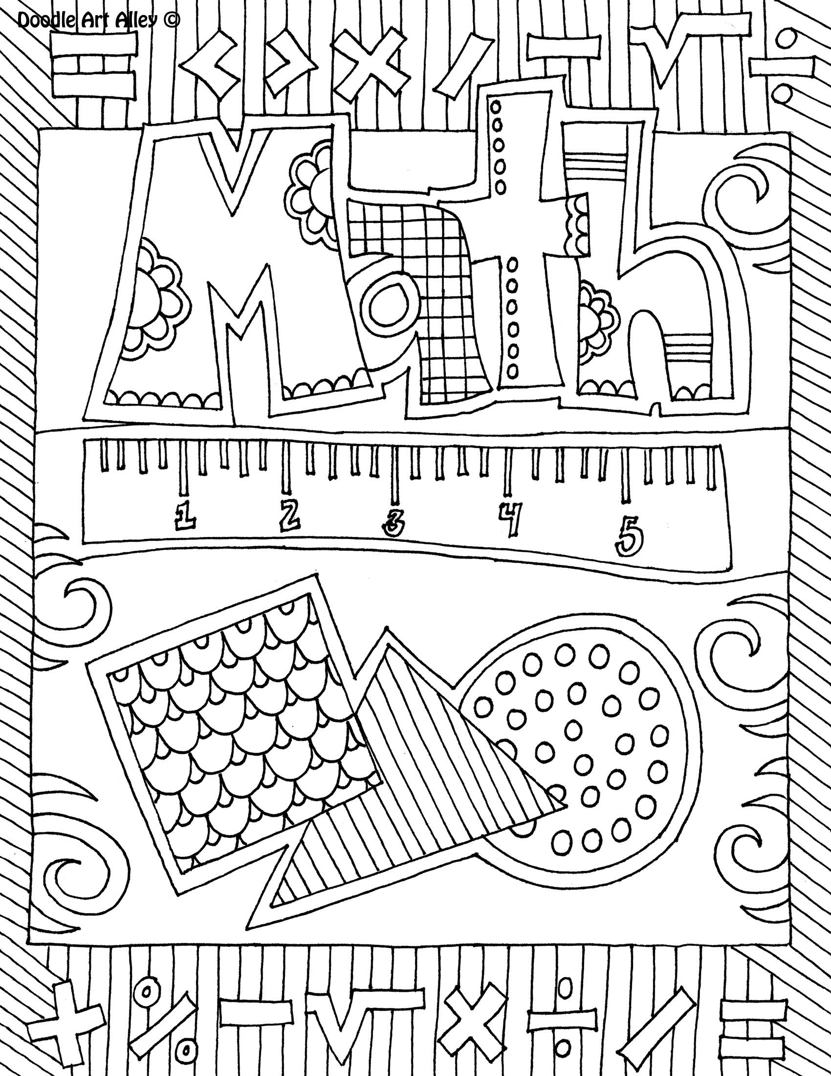 The benefits of coloring these school subject coloring