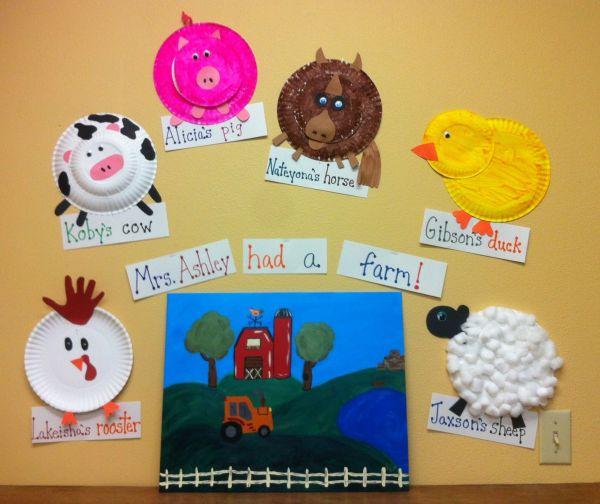 Preschool . Farm. Kids Farm Animal Rooster Pig Horse Duck