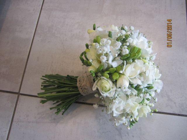 Bouquet De Marie Lysianthus Et Gypsophile Bouquet
